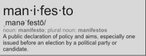 Manifesto Definition
